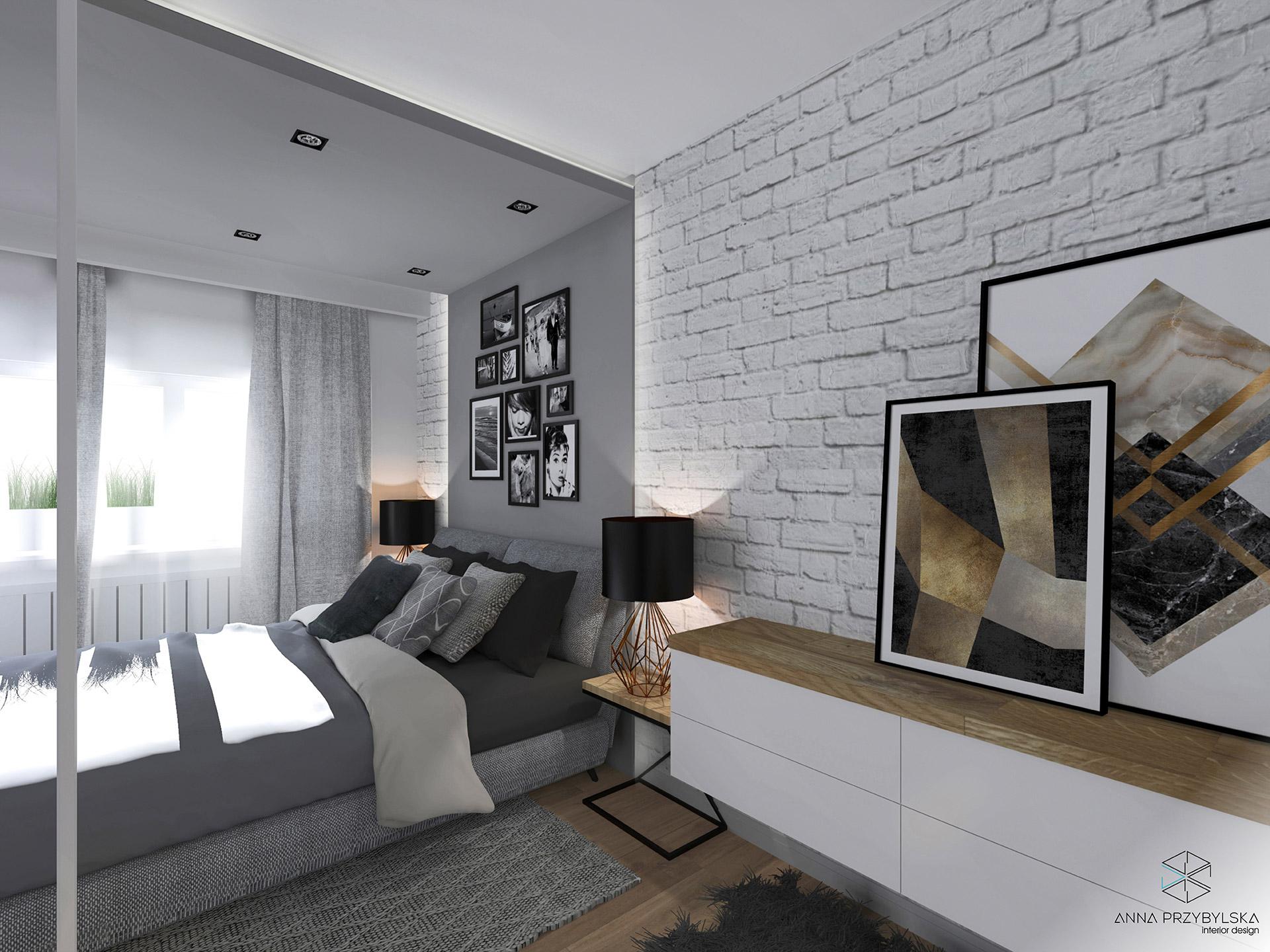 Sypialnia W Stylu Loftowym Q Housepl